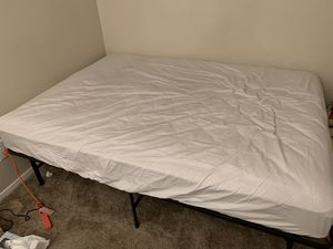 Full size mattress and bed frame for Sale in Dallas, TX