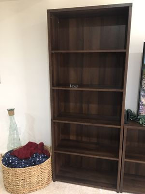 Dark Brown Bookshelves/ Storage/ Media Center for Sale in Gainesville, VA