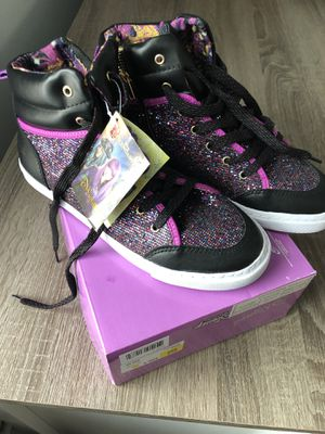 Disney girls glitter shoes boots brand new size 5 for Sale in Johnston, RI