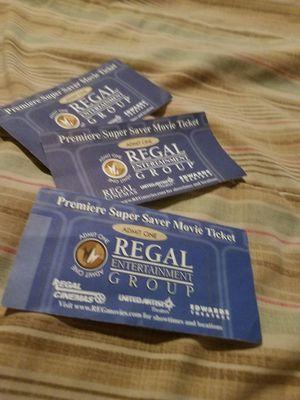 Regal tickets for Sale in Sultan, WA