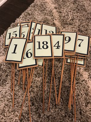 Table numbers for Sale in Azusa, CA