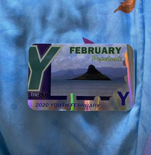 Youth February bus pass for Sale in Waipahu, HI