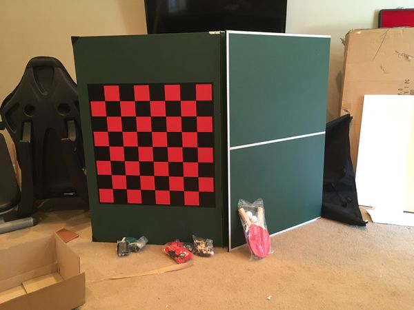 78 in x 42 in Portable Ping pong table top