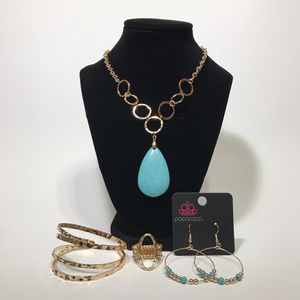 Jewelry- Paparazzi necklace earrings ring bracelet set for Sale in Dublin, GA