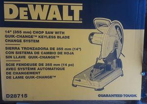 New Dewalt 15 Amp 14 in. Cut-Off Saw D28715☆Pick up only☆ for Sale in Glendale, AZ