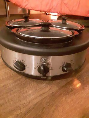 Ge triple crock pot for Sale in Nashville, TN