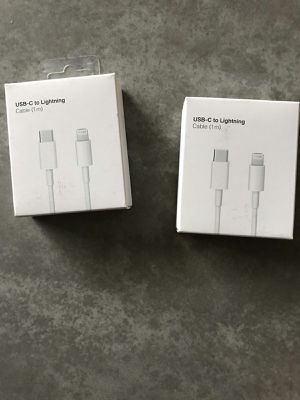 Apple Lightning to USB-C Cable (1 m) 2 pcs sale -75% for Sale in Lynwood, CA