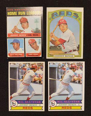 Johnny Bench (12) baseball card lot for Sale in Riverside, CA
