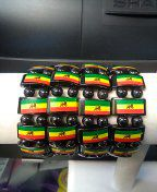 Reggae colored stretchable bracelet for Sale in WA, US