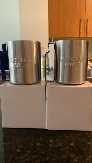 Stainless steel Moscow mule mugs for Sale in Arlington, VA