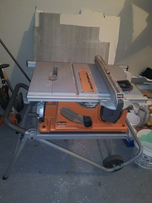 Ridgid table saw 10 inches 15 amp for Sale in Overland Park, KS