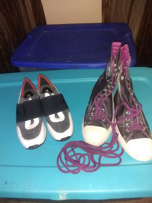 Converse and Michael Kors sneakers size 6 and 7 for Sale in Pine Lake, GA