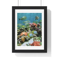 New Reef Poster In Frame Forsale. for Sale in Orlando,  FL