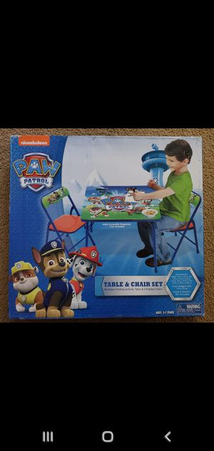nicolodian Pow Patrol table and padded chair set. New in Box for Sale in Anaheim, CA