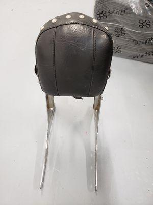Harley davidson sissybar with studded and tassled backrest pad. for Sale in Tamarac, FL