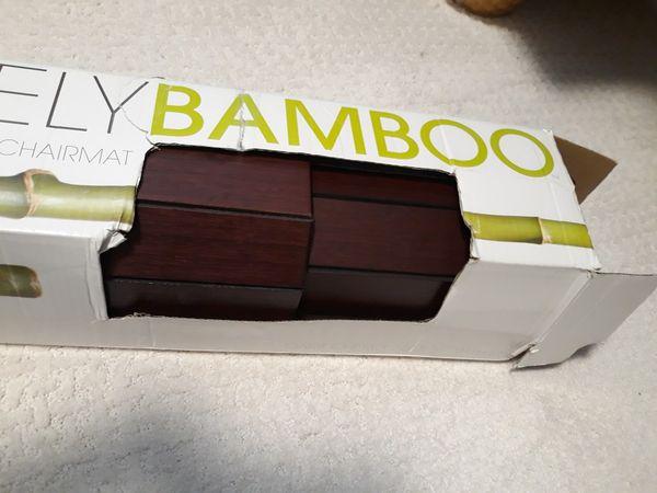 Bamboo Floor Mat for Office-$50