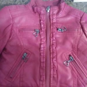 Girls faux leather jacket size18months for Sale in Chicago, IL