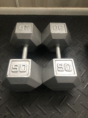 Pair of 90 pound dumbbells for Sale in Linwood, NC