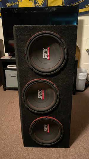 MTX Audio Subwoofers in Box for Sale in Clairton, PA