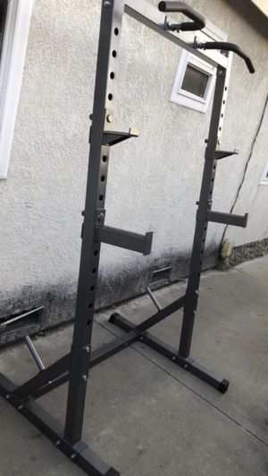 Squat rack/ Bench Press for Olympic equipment Barbell/ Olympic plates/ weights for Sale in San Gabriel, CA