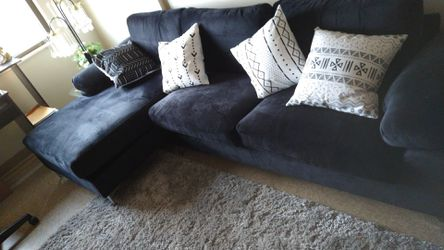 Black satin sectional couch set for Sale in Pittsburgh,  PA