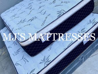 BRAND NEW BAMBOO PILLOW TOP MATTRESS 💯 BEST PRICES 🚛 WE DELIVER SAME DAY ‼️ for Sale in Newport Beach,  CA