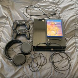 PlayStation 4 With Controllers, Headset, Cables And Games for Sale in Miami,  FL