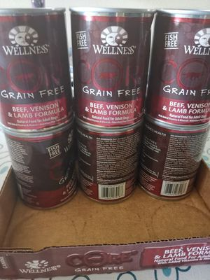 Wellness core dog food beef lamb flavor pack of 12 for Sale in Arlington, VA