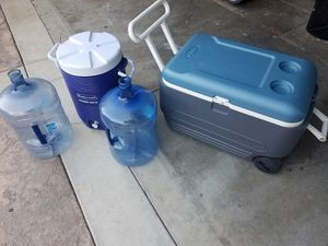 All 4 for $65 (note) square cooler is 80 qt for Sale in Montebello, CA