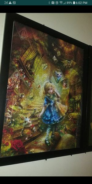 Alice in Wonderland framed pictures puzzle for Sale in Montclair, CA