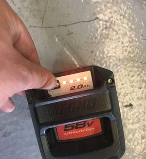 Echo 58 volt Lithium ion 2 Ah battery and Charger for Sale in Mesa, AZ