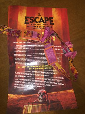Escape from wonderland general admission Saturday wristbands for Sale in Los Angeles, CA