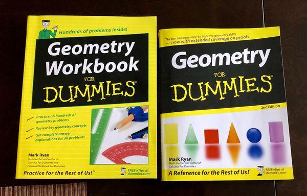 SAT, ACT, and various AP study books