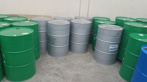 Mint condition food grade no chemical 55 Gallon metal Barrels $15each for Sale in Rosemead, CA