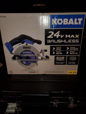 "Kobalt 24v 6-1/2"" brushless circular saw for Sale in Riverview, FL"