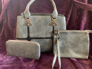 Grey purse set for Sale in Naugatuck, CT