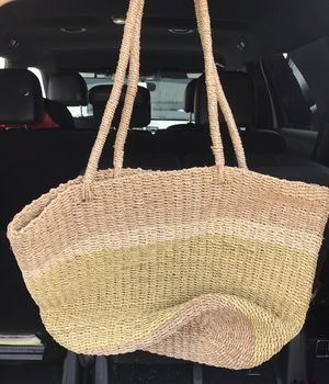 Large heavy-duty Straw Tote Bag for Sale in Winter Haven, FL