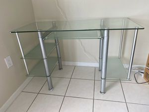 Computer glass desk $250 OBO for Sale in Hialeah, FL