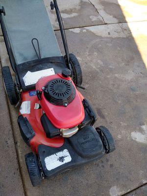 Troy-Bilt gas lawn mower powered by Honda rear bagging mulching 1 pull start for Sale in Phoenix, AZ