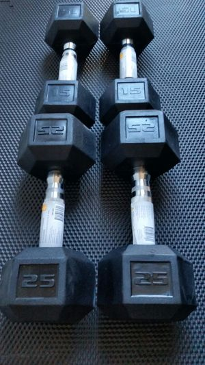 New 15lb and 25 lb dumbbells $180 for Sale in Portland, OR