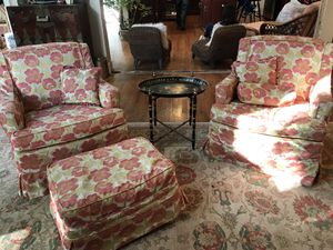 Two chairs and ottoman for Sale in Manakin-Sabot, VA