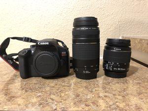Canon Rebel T6 W/ Lenses + Bag for Sale in Tempe, AZ