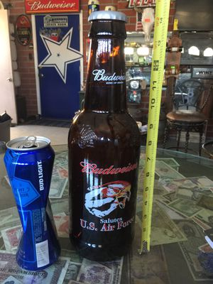 Budweiser beer collectible glass bottle for Sale in Selma, CA