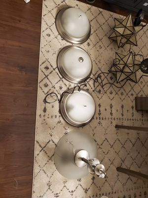 4 matching light fixtures builder grade for Sale in Raleigh, NC