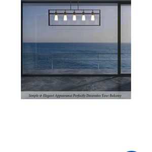 Costway 5-Lights Flush Mount Geometric Metal Chandelier Pendant Lamp w/ Iron Lamp Shade for Sale in Bakersfield, CA