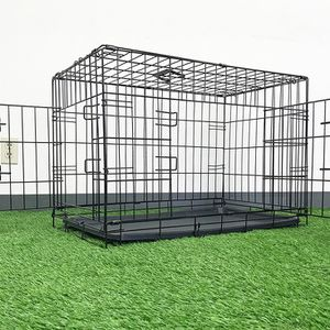 "Brand New $35 Folding 30"" Dog Cage 2-Door Folding Pet Crate Kennel w/ Tray 30""x18""x20"" for Sale in Whittier, CA"