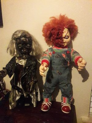 Chucky & Bride Halloween Prop Dolls for Sale in Irving, TX