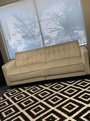 Sofa futon velvet cream for Sale in Fresno, CA