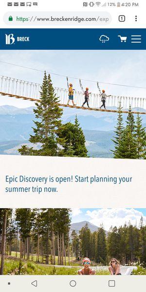 Breckenridge Epic Discovery Unlimited Pass for Sale in Breckenridge, CO