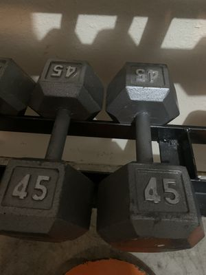 45 pound dumbbells for Sale in Watauga, TX